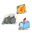 communication objects set vector image