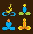 creative yoga pose vector image