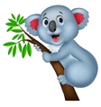 Cute koala cartoon vector image