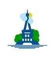 Eiffel Tower logo vector image