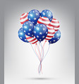 flying glossy usa flag pattern balloons vector image