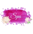 made using watercolors on spa salon with vector image