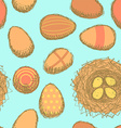 Sketch nest with eggs in vintage style vector image