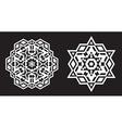 Ethnic Fractal Mandala looks like Snowflake or vector image