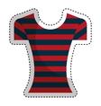 female clothes fashion icon vector image