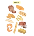 bakery food set vector image