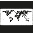 World Map Retro Stamp vector image