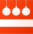 Christmas ball background with place for text vector image