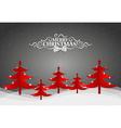 Christmas greeting card with Origami Christmas vector image vector image