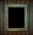 wooden window of an old abandoned building vector image