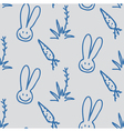 seamless print pattern of rabbits carrots and vector image