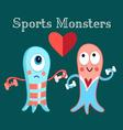 funny monsters funny a involved in sports vector image