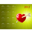 glossy heart for valentines vector image vector image