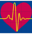 Cardiogram vector image vector image