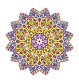 colored floral mandala vector image