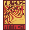 air force attack poster vector image
