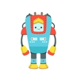 Blue And Red Giant Friendly Android Robot vector image