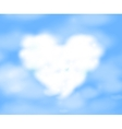 Cloudy heart vector image
