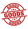 goods round red grunge stamp vector image