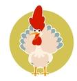 Happy cartoon rooster vector image