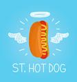 heaven hot dog concept st hot dog vector image