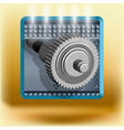 icon with gear vector image