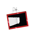 tearing paper into a picture frame vector image