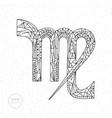 virgo zodiac sign hand drawn horoscope vector image