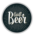 beer fest lettering with rays vintage vector image