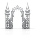 Background with arch in the Asian style vector image