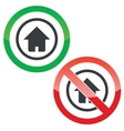 Home permission signs vector image