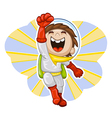 cartoon astronaut vector image vector image