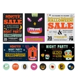 Set Trick or Treat Poster Cards and Stickers vector image