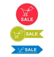 set of stickers for sale vector image