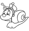 Snail with Hat vector image vector image