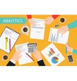 Business analytics and financial audit vector image