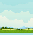 country landscape background vector image