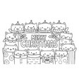 cute cats and merry christmas vector image