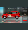 Digital red new modern business van vector image