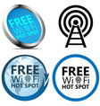 Free Wi-Fi Internet access signs vector image