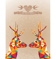 Merry Christmas colorful reindeers shape vector image