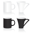 Mug black and white vector image