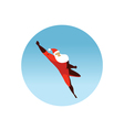 flying Superhero Santa Claus action vector image