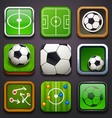 background for the app icons-soccer part vector image