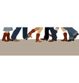 Country dancing banner vector image