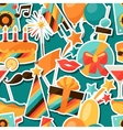 Celebration seamless pattern with party sticker vector image