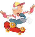 Cute Little Boy Skateboarder vector image