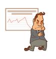 businessman praying on his knees vector image