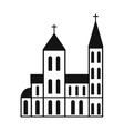 Catholic church simple icon vector image