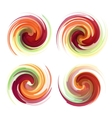 Colorful abstract icon set Dynamic flow vector image